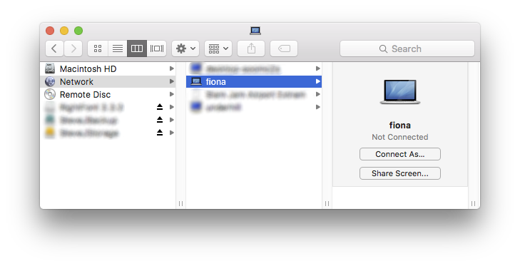 Network folder in Finder